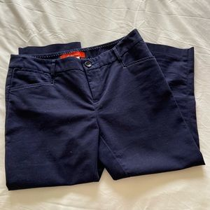 Anthropologie Cartonnier navy blue cropped pants
